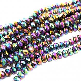 Broušené korálky - barevné - 6 x 4 mm - 10 ks