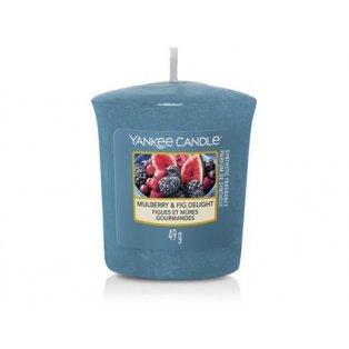 YANKEE CANDLE - MULBERRY & FIG DELIGHT - votivní svíčka - 1 ks