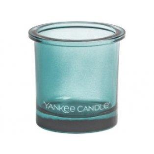 YANKEE CANDLE - POP TEA LIGHT - svícen na votivní svíčku - teal - 1 ks