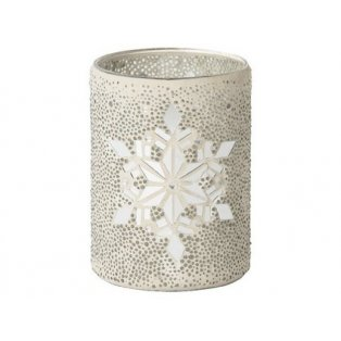 YANKEE CANDLE - TWINKLING SNOWFLAKE - skleněný svícen na svíčku - 1 ks