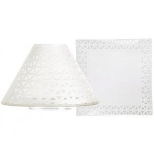 YANKEE CANDLE - BELMONT SANDBLASTED ON GLASS - velké stínítko + velký talíř - 1 ks