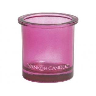 YANKEE CANDLE - POP TEA LIGHT - svícen na votivní svíčku - pink- 1 ks