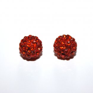 Shamballa - světle oranžová - 10 x 10 mm - 1 ks