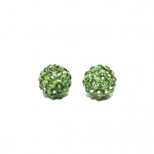 Shamballa - světle zelená - 10 x 10 mm - 1 ks