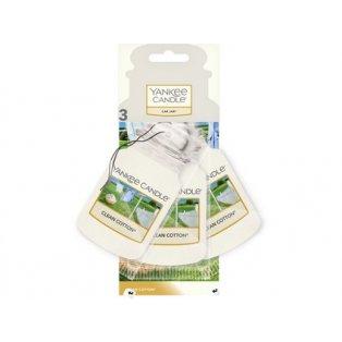YANKEE CANDLE - CLEAN COTTON - papírová visačka - 3 ks