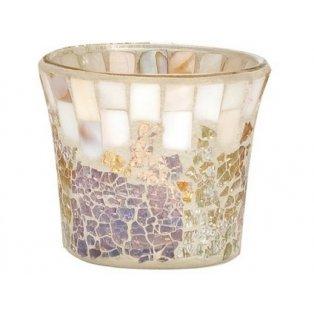 YANKEE CANDLE - GOLD AND PEARL CRACKLE - svícen na votivní svíčku - 1 ks