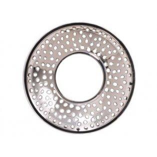 YANKEE CANDLE - KENSINGTON SILVER PUNCHED METAL - Illuma lid - ozdobný prstenec - 1 ks