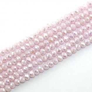 Broušené korálky - slavík - růžové - 8 x 6 mm - 10 ks
