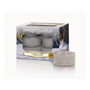 YANKEE CANDLE - CANDLELIT CABIN - čajové svíčky - 12 ks