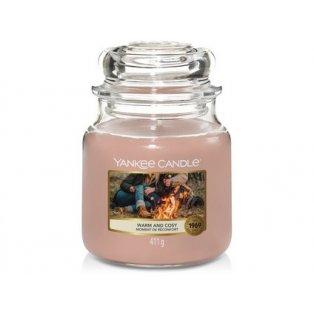 YANKEE CANDLE - WARM & COSY - vonná svíčka - classic střední - 1 ks