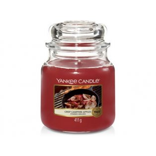 YANKEE CANDLE - CRISP CAMPFIRE APPLES - vonná svíčka - classic střední - 1 ks