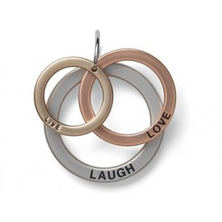 YANKEE CANDLE - LOVE, LAUGH, LOVE - přívěšek - 1 ks