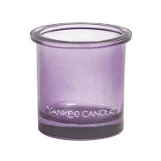 YANKEE CANDLE - POP TEA LIGHT - svícen na votivní svíčku - violet - 1 ks
