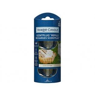 YANKEE CANDLE - CLEAN COTTON - náhradní náplň pro vůni do elektrické zásuvky  - 2 ks