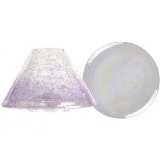 YANKEE CANDLE - SAVOY - velké stínítko + velký talíř fialový - 1 ks
