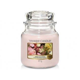 YANKEE CANDLE - FRESH CUT ROSES - vonná svíčka - classic střední - 1 ks