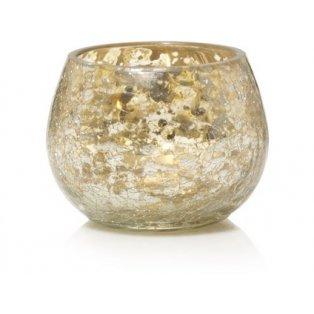 YANKEE CANDLE - KENSINGTON MERCURY ON CRACKLE GLASS  - svícen na votivní svíčku - 1 ks