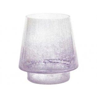 YANKEE CANDLE - SAVOY - skleněný svícen na svíčku classic - fialový  - 1 ks