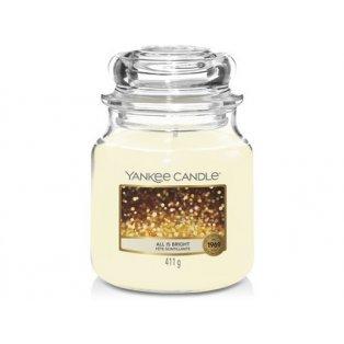 YANKEE CANDLE - ALL IS BRIGHT - vonná svíčka - classic střední - 1 ks