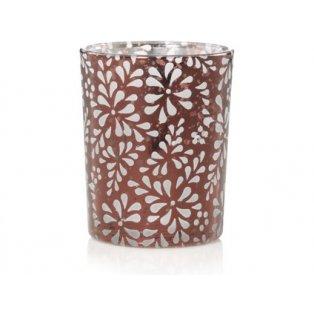 YANKEE CANDLE - SHERIDAN FLORAL BRONZE PUNCHED METAL - svícen na votivní svíčku - 1 ks
