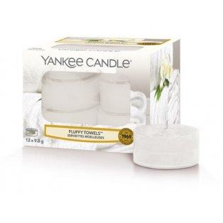 YANKEE CANDLE - FLUFFY TOWELS  - čajové svíčky - 12 ks