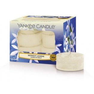 YANKEE CANDLE - MIDNIGHT JASMINE - čajové svíčky - 12 ks