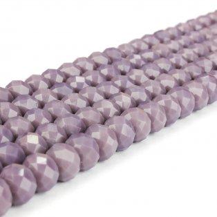 Broušené korálky - slavík - levandulové - 8 x 8 x 6 mm - 10 ks