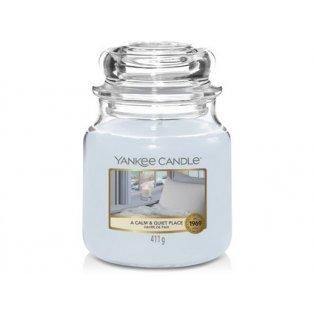 YANKEE CANDLE - CALM & QUIET PLACE - vonná svíčka - classic střední - 1 ks