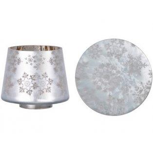 YANKEE CANDLE - SNOWFLAKE FROST - malé stínítko + malý talíř - 1 ks