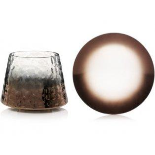 YANKEE CANDLE - SHERIDAN METALLIC OMBRE ON HAMMERED GLASS - velké stínítko + velký talíř - 1 ks