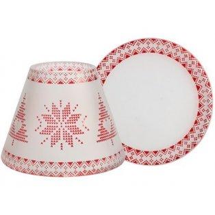 YANKEE CANDLE - NORDIC FROSTED GLASS - malé stínítko + malý talíř - 1 ks