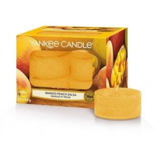 YANKEE CANDLE - MANGO PEACH SALSA - čajové svíčky - 12 ks