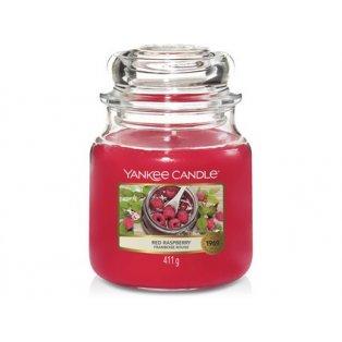 YANKEE CANDLE - RED RASPBERRY - vonná svíčka - classic střední - 1 ks