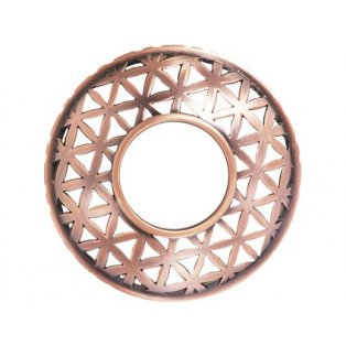 YANKEE CANDLE - BELMONT SATIN COPPER PUNCHED METAL - Illuma lid - ozdobný prstenec - 1 ks