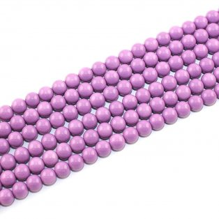 Skleněné korálky - šalvějové - ∅ 8 mm - 10 ks