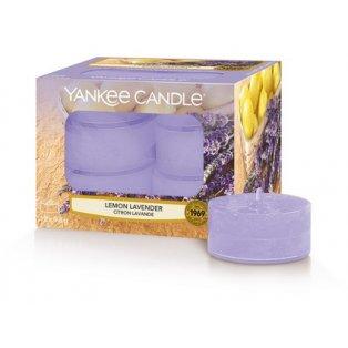 YANKEE CANDLE - LEMON LAVENDER - čajové svíčky - 12 ks