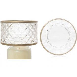 YANKEE CANDLE - LANGHAM FACETED GLASS - velké stínítko + velký talíř - 1 ks