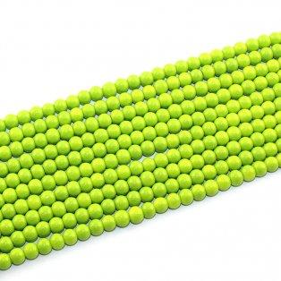 Skleněné korálky - zelené - ∅ 6 mm - 10 ks