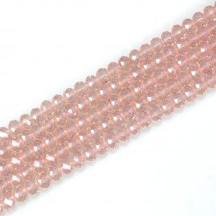 Broušené korálky - slavík - lasturově růžové - 8 x 6 mm - 10 ks