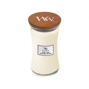 Woodwick svíčka - sklo velké/Coconut & Tonka