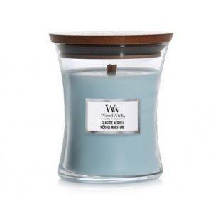 Woodwick svíčka - sklo střední/Seaside Neroli