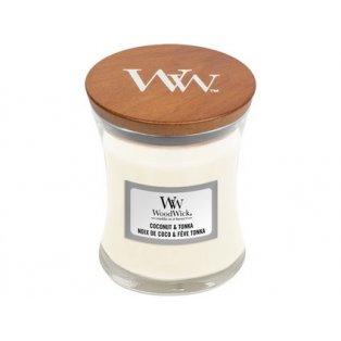 Woodwick svíčka - sklo malé/Coconut & Tonka