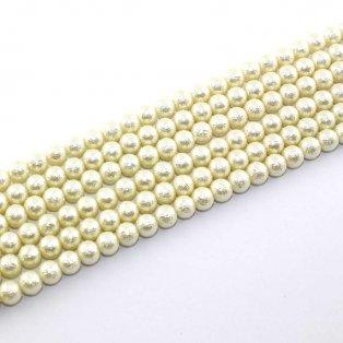 Voskované perly - matný styl - béžové - Ø 8 mm -  10 ks