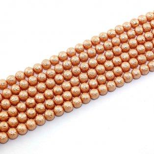 Voskované perly - matný styl - oranžové - Ø 8 mm - 10 ks