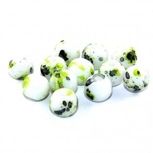 Sprejované korálky - zelené - ∅ 8 mm - 10 ks
