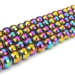 Syntetický hematit - barevný - ∅ 4 mm - 1 ks