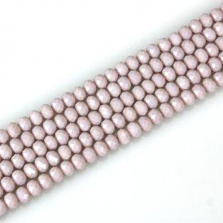 Broušené korálky - slavík - šeříkové - 8 x 6 mm - 10 ks