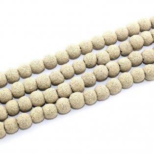Syntetické lávové korálky - béžové - Ø 10 mm - 1 ks