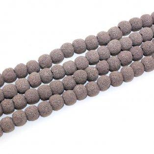 Syntetické lávové korálky - fialovošedé - Ø 10 mm - 1 ks