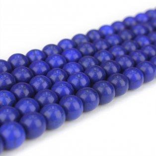 Syntetické tyrkysové korálky - tmavě modré - ∅ 8mm - 10KS